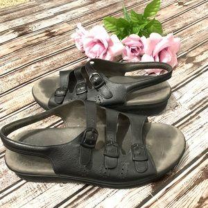 SAS Tripad Comfort 3 Strap Sandals Womens Black 10